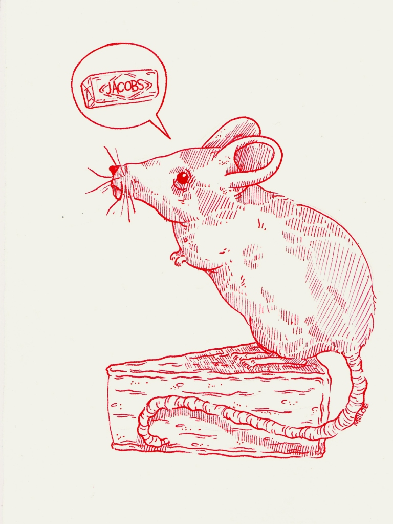 So much cheese and not a cracker to be had, what is a mouse to do. It doesn't bear thinking about.
